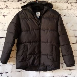 Old Navy Frost-Free Hooded Boys Puffer Jacket - L